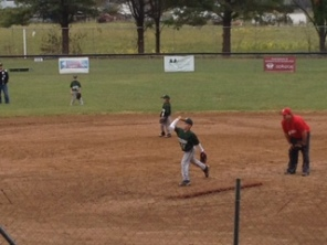 Cole pitching for the first time during fall ball.